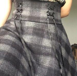 Plaid Velvet mini skirt